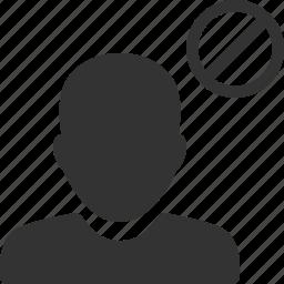 account, avatar, ban, blocked, person, profile, user icon