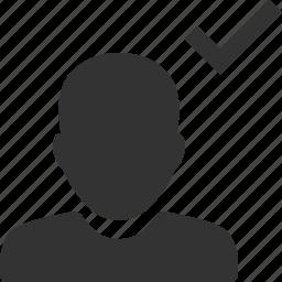 accept, account, avatar, check, person, profile, user icon