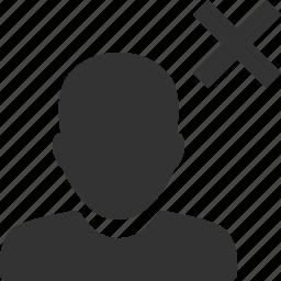 account, avatar, delete, person, profile, remove, user icon