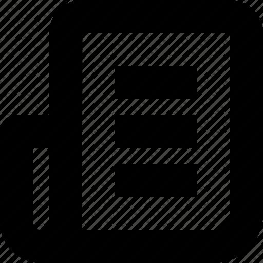 gazette, journal, news, paper, script icon