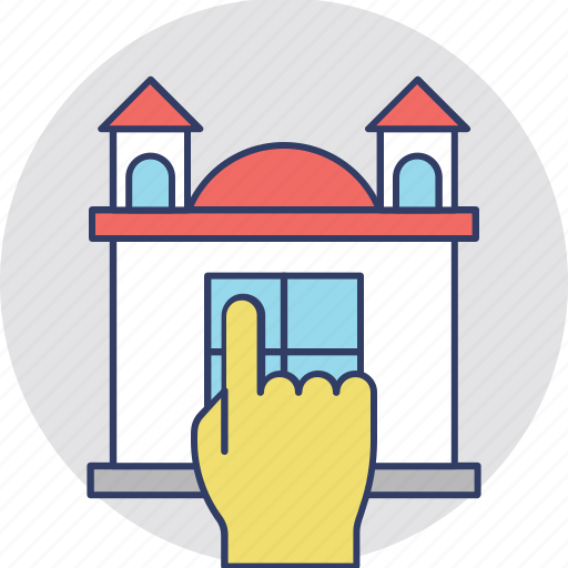 home hand pointing vector icon icon