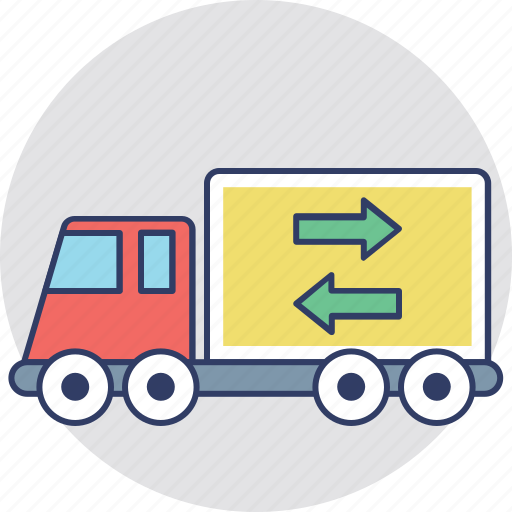 commercial delivery, delivery truck, delivery van, delivery vehicle, logistic delivery icon