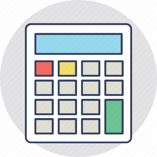 accounting, budget, calculating device, calculator, mathematics icon