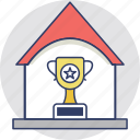 award, intellectual property, property award, real estate, trophy property icon