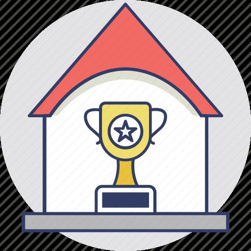 award, intellectual property, property award, real estate, trophy property icon