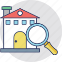 house selection, listed building, relocation, search house, search listing icon