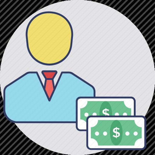 Buyer, businessman, trader, banker, entrepreneurship icon