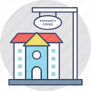 estate business, house for sale, property auction, property buying, property offer icon