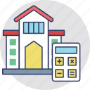 house value, house worth, property analyzing, property estimation, property marketing icon