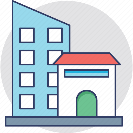 architecture, building exterior, home and office, real estate, skyscraper icon