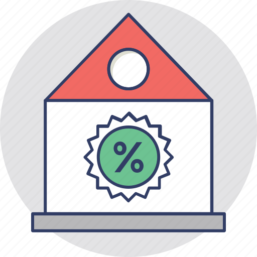 property discount, property tax, property value, real estate, tax discount icon
