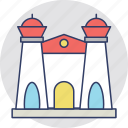 castle, fort, palace, real estate, villa icon