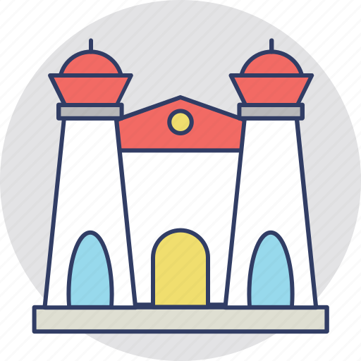 castle, fort, palace, real estate, villa icon