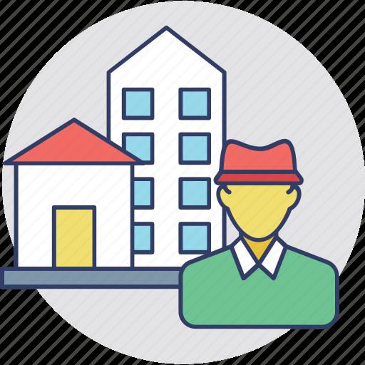 estate agent, homeowner, property agent, realtor, renter icon