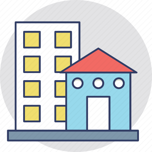 architecture, city building, mansion, properties, real estate icon