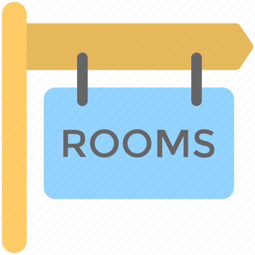 board, hanging board, hotel room, room info, room signboard icon