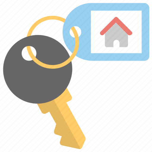 home key, house key, house security, key chain, real estate icon