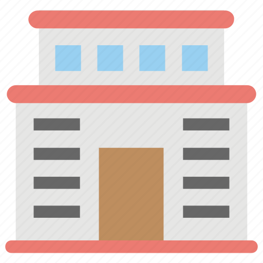 apartment, building, double story, home, house icon