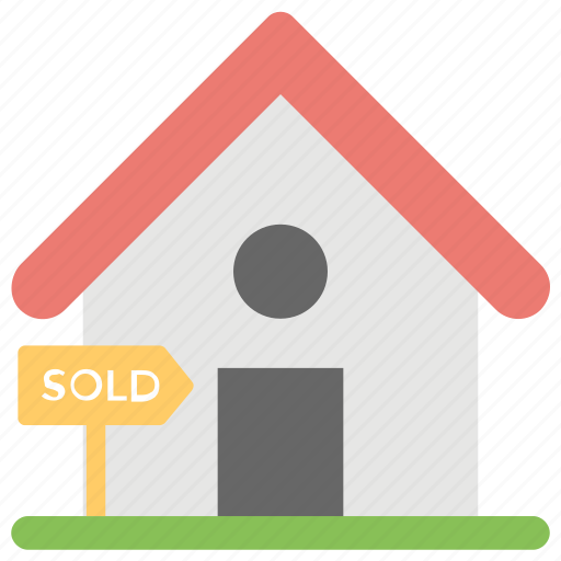 estate signage, house sold out, property sold, sold advertisement, sold property icon