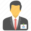 homeowner, property agent, property representative, real estate advisor, real estate agent icon