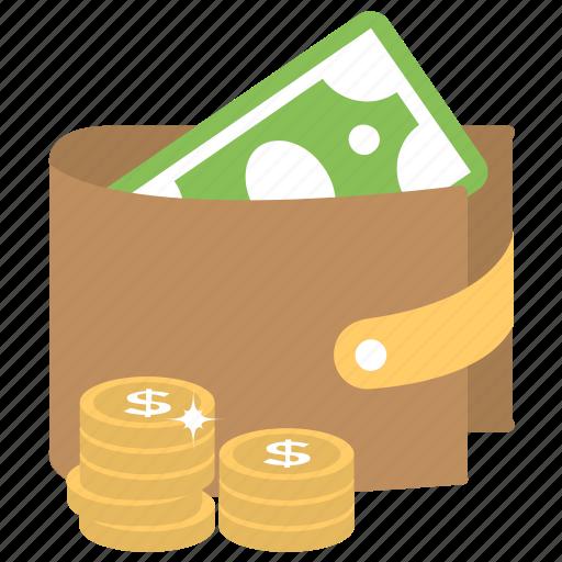 billfold wallet, cash, cash purse, purse, wallet icon