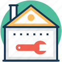 home improvement, home maintenance, home renovation, home repair, property maintenance icon