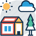 agricultural building, building, country house, farmhouse, rural house icon