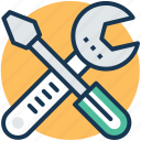 maintenance, repairing, service tools, technical support, workshop icon