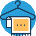 bathing, fabric, hanger, towel, wiping icon