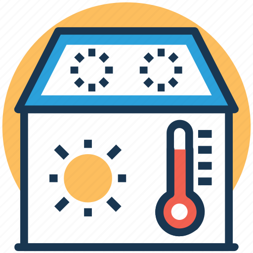 Central cooling, central heating system, house temperature, temperature, thermometer icon - Download on Iconfinder