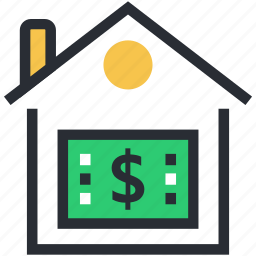 bank, bank building, banking, finance, stock market icon