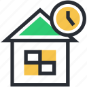 building, sale time, shop, store, time icon