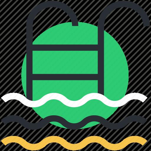 pool ladders, pool stairs, pool steps, sea ladder, swimming pool icon