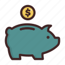 bank, banking, finance, money, piggy, saving icon