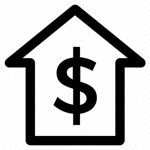 .svg, dollar, home, house, money, online, think icon