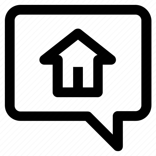 .svg, bubble, chat, chatting, home, house, message icon