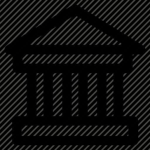 .svg, building, court, courthouse, law, law building, prison icon
