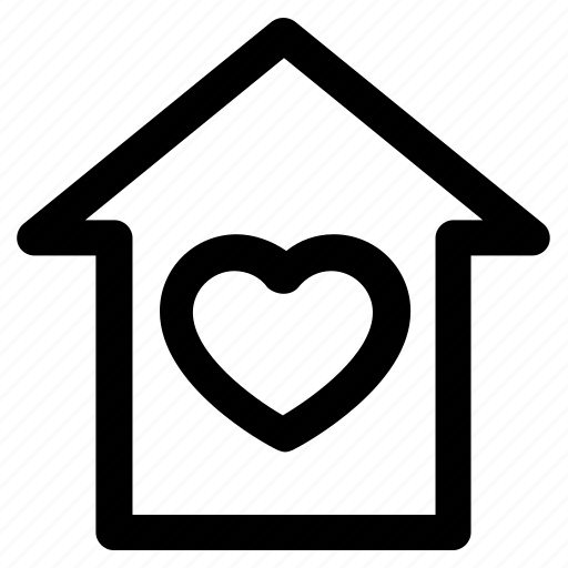 .svg, family, heart, home, house, love, valentine icon