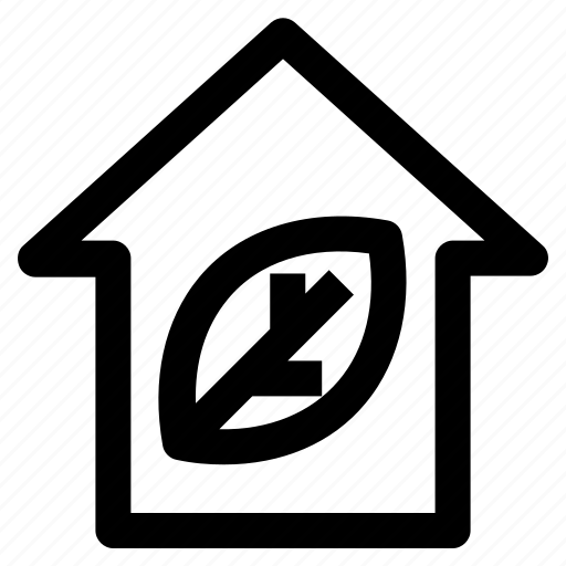 .svg, eco home, ecology, house, leaf, plant, smart home icon