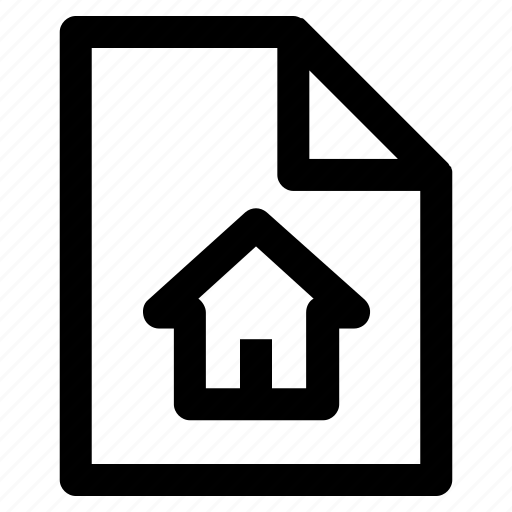 .svg, documents, file, format, home, house, paper icon