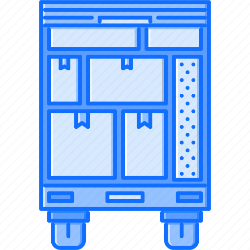 box, estate, house, moving, real, realtor, truck icon
