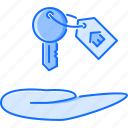 real, realtor, estate, house, hand, key, badge