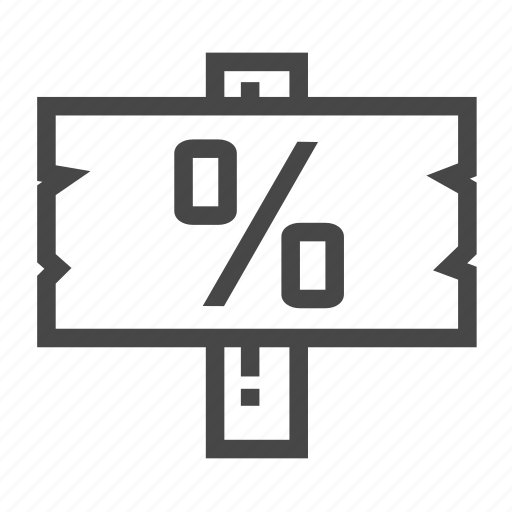 Home, house, percent, real estate, sign icon - Download on Iconfinder