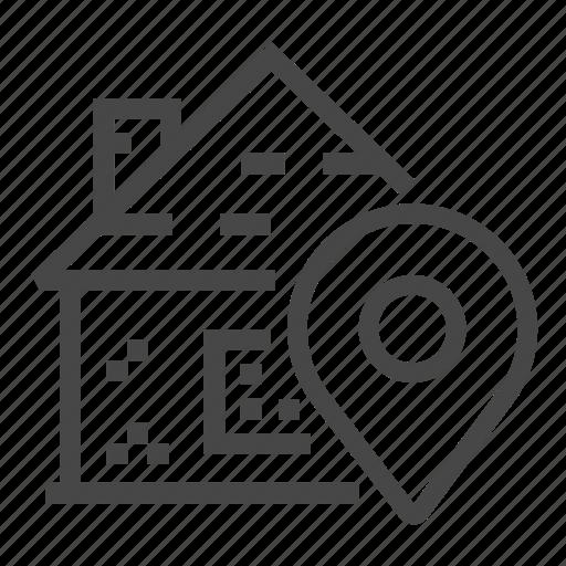 estate, location, property, real icon
