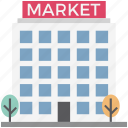 big market, marketplace, shop, shopping center, shopping mall, super mall, superstore icon