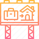 advertising, billboard, building, estate, home, property, real icon