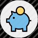 banking, dollar, dollar saving, money, piggy, piggy bank, savings icon