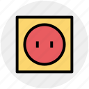 plug, power, power switch, supply icon