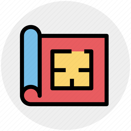 Gps, home, house map, map, marker, plan, property icon - Download on Iconfinder