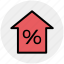 home, house, mortgage percentage, percent, percentage, property discount, property tax